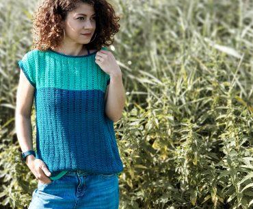Railway Top. Tunisian Crochet Pattern