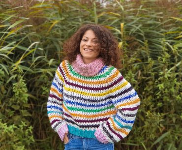 Color Bomb Sweater. Crochet Pattern