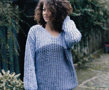 Blue Moon Jumper. Tunisian Crochet Pattern