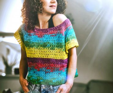 Spring Colors T-shirt. Crochet Pattern