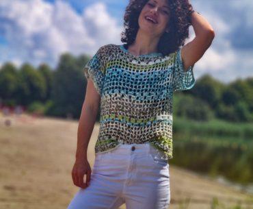 Marble T-shirt. Crochet Pattern