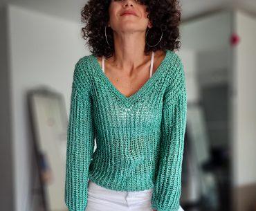 Porto Sweater. Crochet Pattern