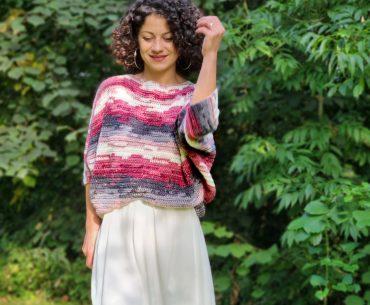 Bat Wings Sweater. Crochet Pattern